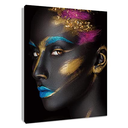 Amazoncom Hvest African American Canvas Wall Art Black Woman