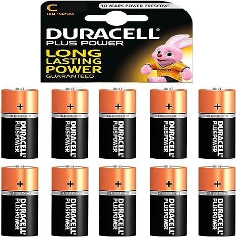 10 X Duracell 1 5 V Baby C Lr14 Am2 4014 Amazon Co Uk Camera