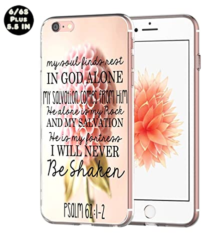 big sale d3c30 e4f06 Case for Iphone 6S Plus Bible Verse - Topgraph [Exact Compatible Slim Fit  Clear With Design Full Coverage] Replacement Bumper For 6/6S Plus  [Christian ...