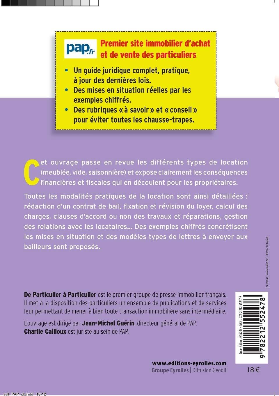 Louer Un Bien Immobilier Les Guides De Particulier A Particulier French Edition De Particulier A Particulier 9782212552478 Amazon Com Books