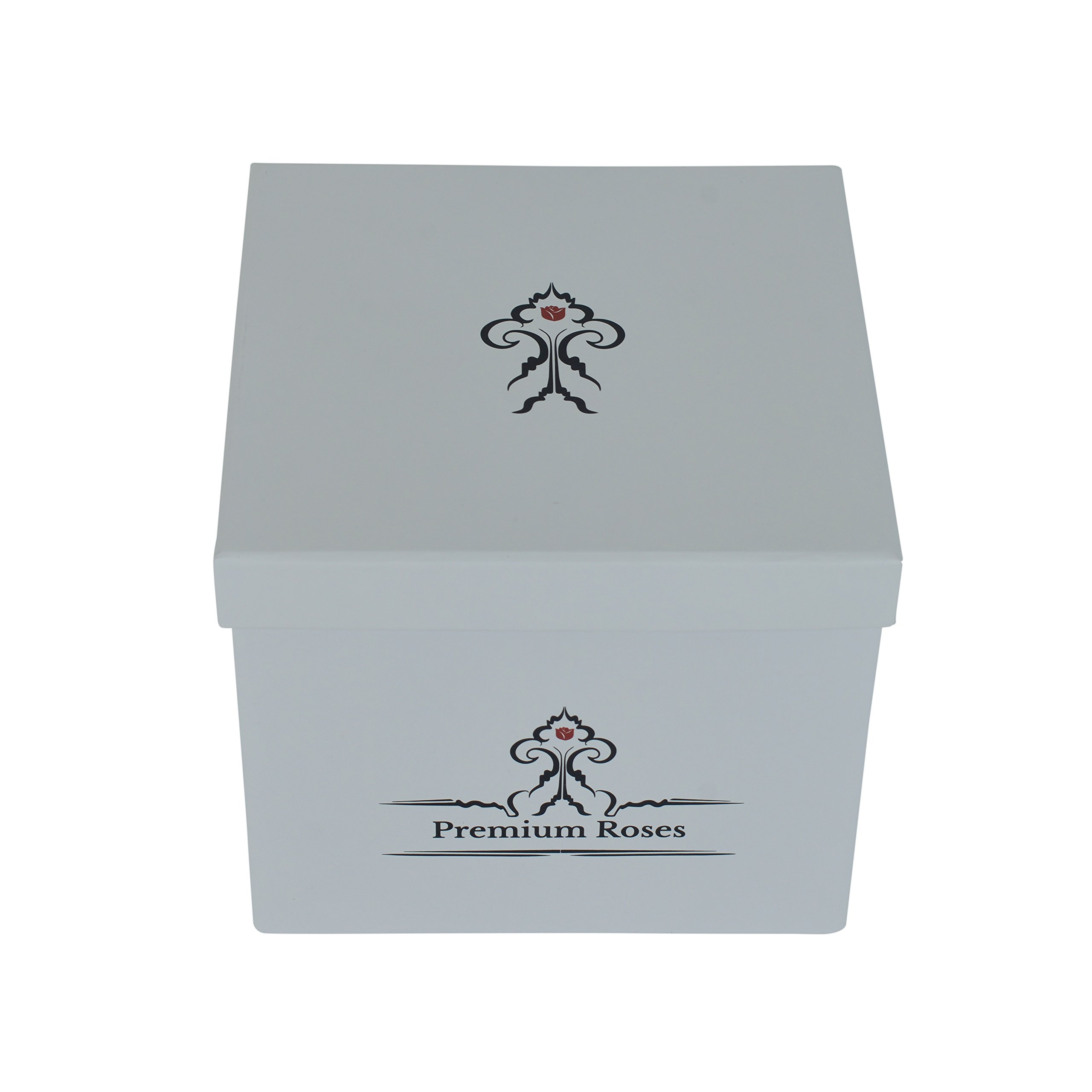 Premium Roses| Real Roses That Last a Year | Fresh Flowers| Roses in a Box (White Box, Small)