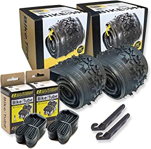 26 Inch Bike Tire Replacement Kit for Mountain Bike Tires 26 X 1.95 Includes Tools. with or Without Tubes Choose 1 or 2 Packs.