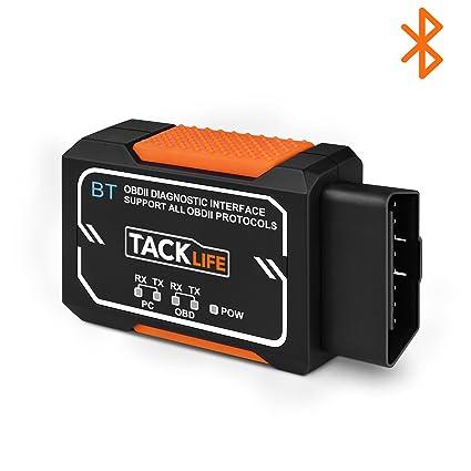Amazon com: OBD2 Scanner, Tacklife Bluetooth OBD2 Diagnostic real