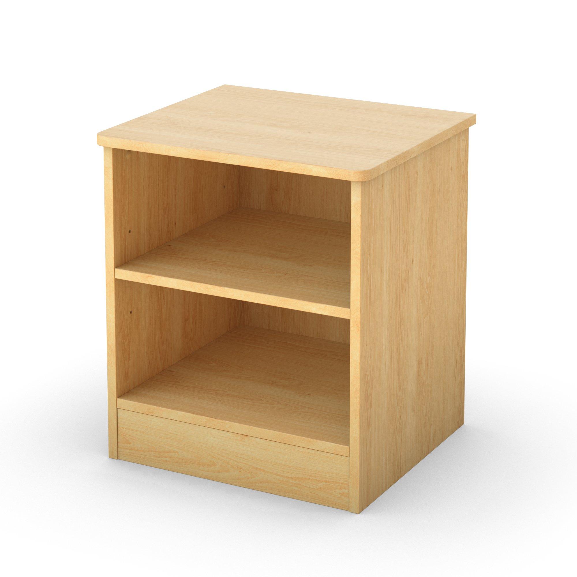 South Shore Libra Open 2-Shelf Nightstand, Natural Maple