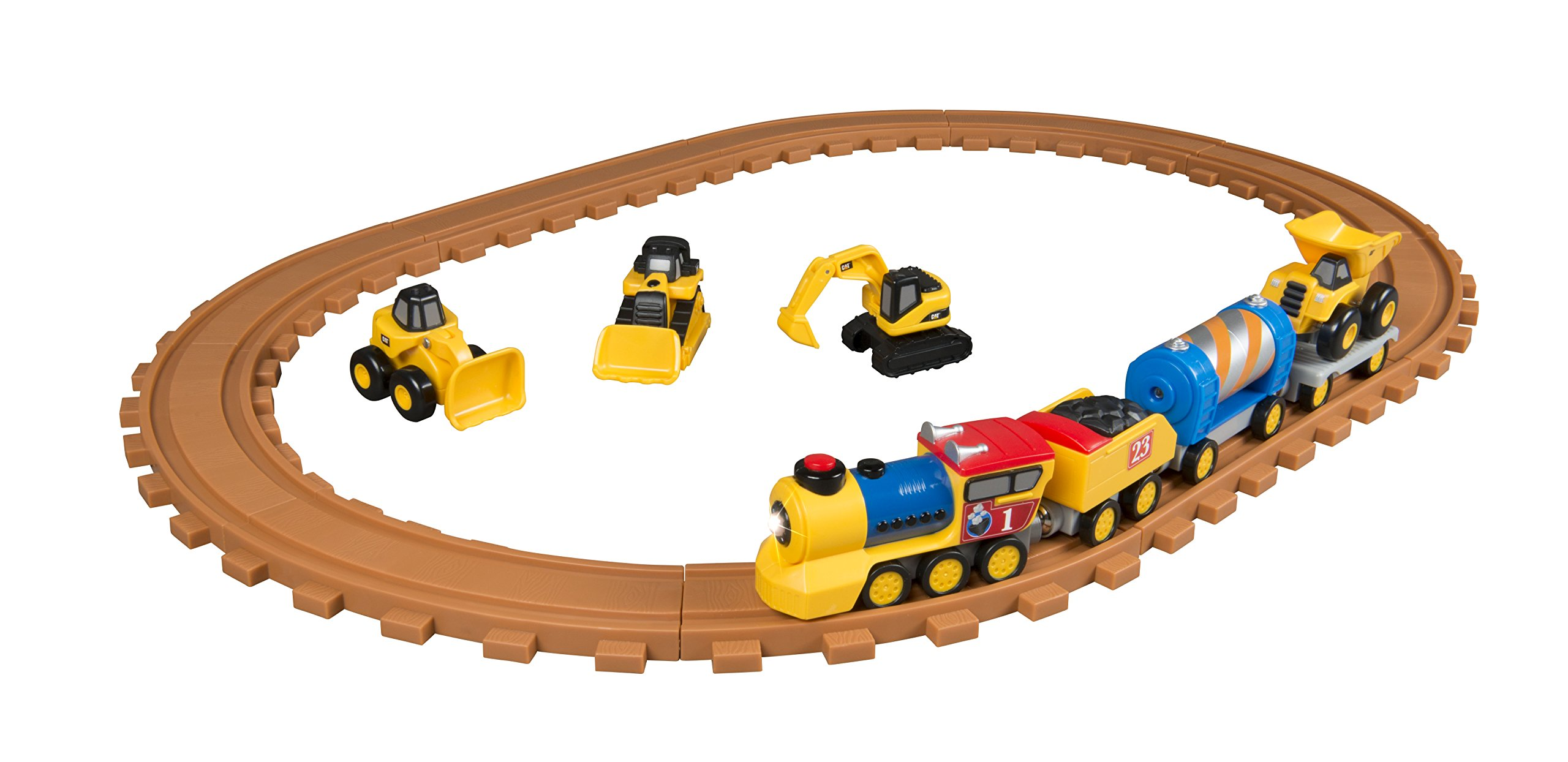 Toy State Caterpillar CAT Buildin' Crew Pre-School Express Train Light & Sound Vehicle