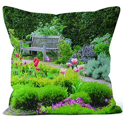 Magnificent Amazon Com English Garden With Walk Path Leading Empty Ibusinesslaw Wood Chair Design Ideas Ibusinesslaworg