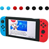 Nintendo Switch Silicone Case, Protective Split Type Silicone Case for Nintendo Switch (BlueRed)