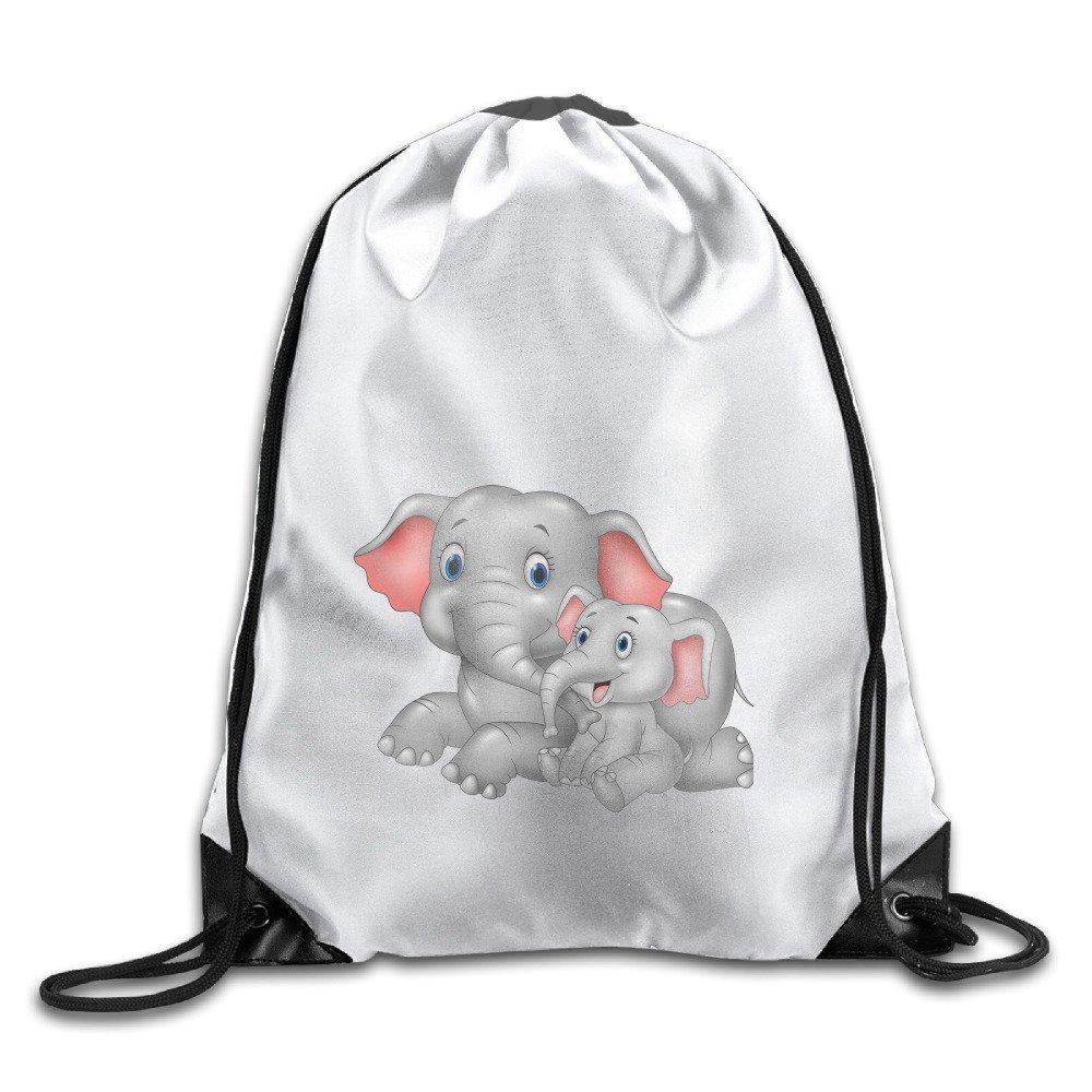 Mom Elephant With Baby Bags Funny Sack Bag