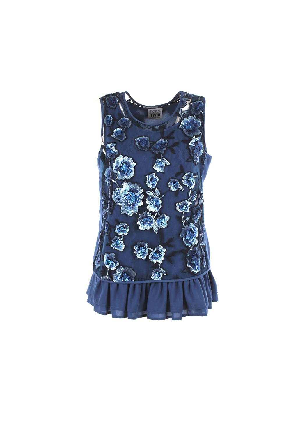 Twinset Top Floreale Micro Paillettes MY TWIN