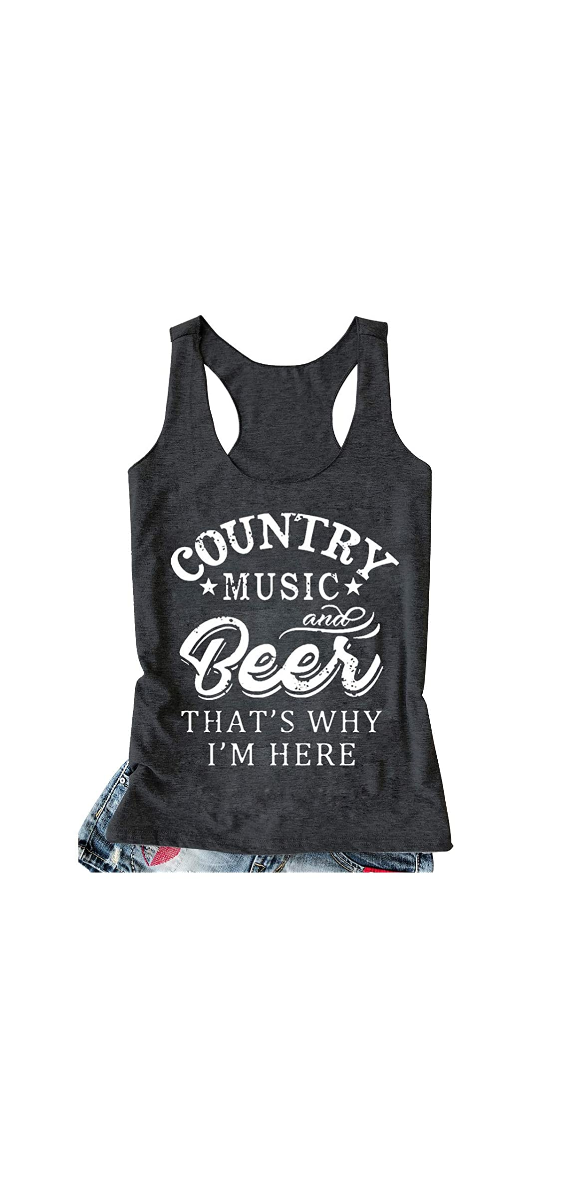 Women Funny Letter Tank Top Summer Sleeveless Cami Top Sporting