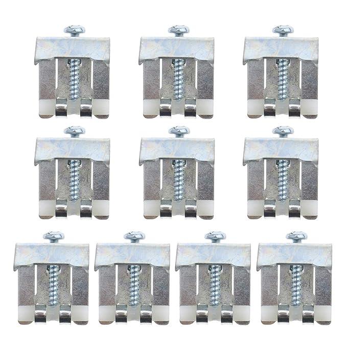 8 x Befestigungsklammern Klammern mit Dichtung zur Kücheninstallation