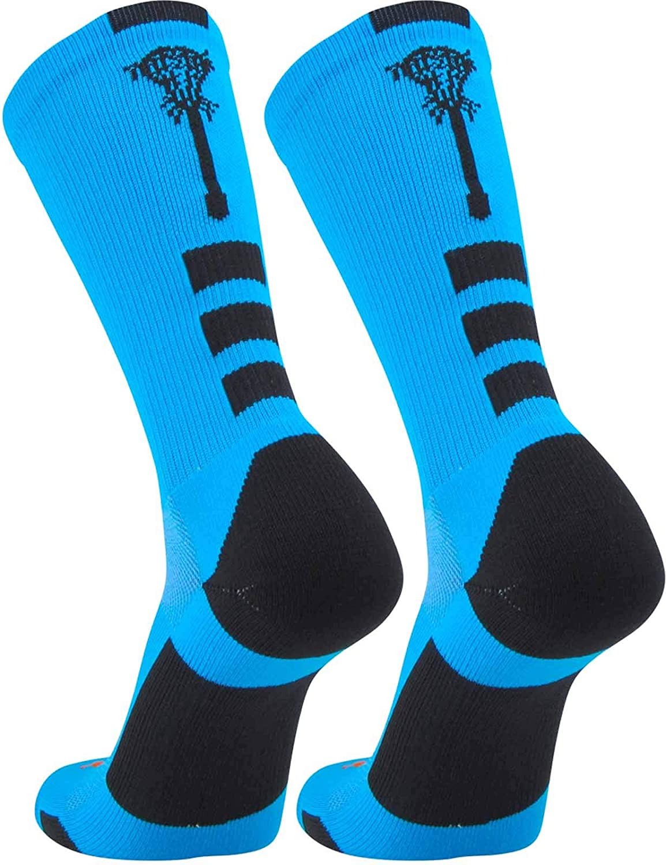 TCK Sports Elite Lacrosse Logo Performance Crew Socks