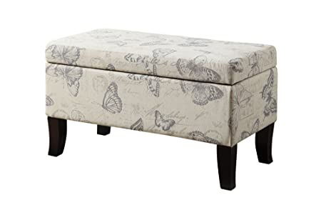 Convenience Concepts Designs4Comfort Winslow Storage Ottoman, Butterfly Fabric