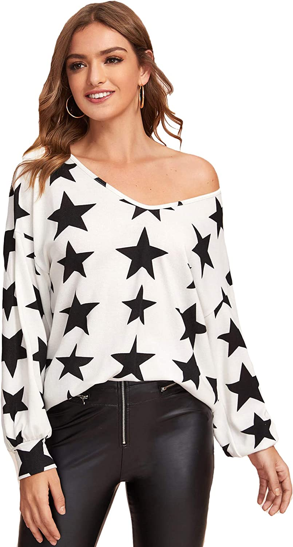 Milumia Women Casual Long Sleeve Drop Shoulder Tee Loose Baggy Pullover T Shirts Sweatshirts Blouse Tops