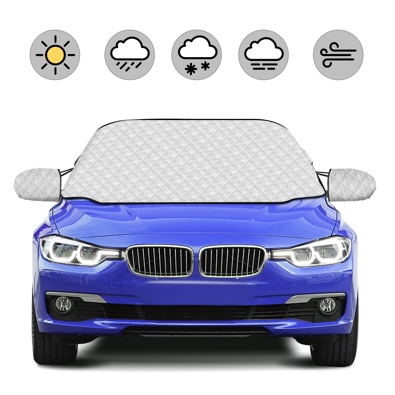 HOKEKI Protector para parabrisas, Cubierta de Parabrisas Magnético Protege de Hielo, Nieve Vientoy Lluvia, Apropiada para Universal Automóviles ...
