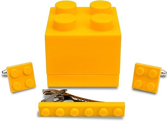 SJP Cufflinks LEGO® placa Gemelos & Corbata Slide (amarillo) para ...