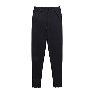 A5002, Women's Silk Pant Lace Cuff at Women's Clothing store