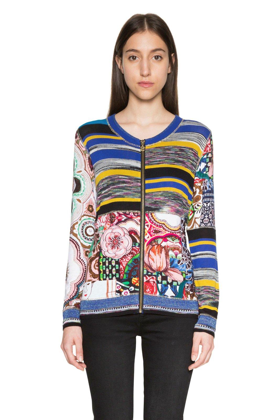 Desigual Women's A Fine Balance Zip Up Cardigan XS/UK 8