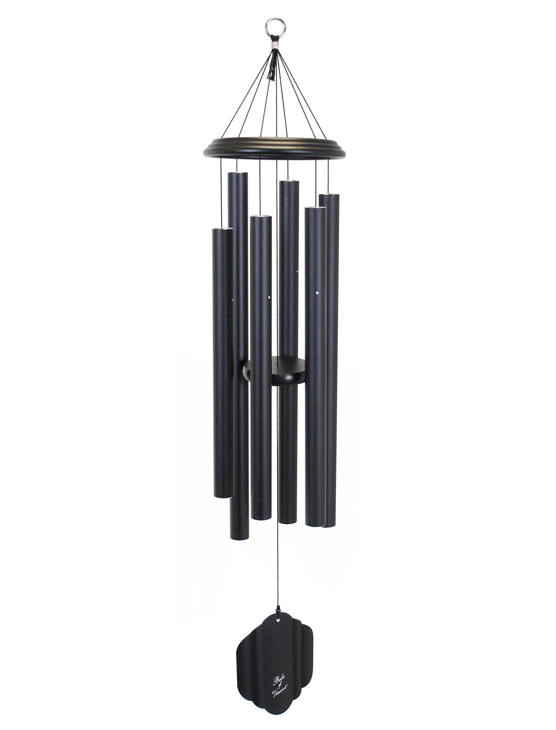 Bells of Vienna 44-inch Windchime, Black