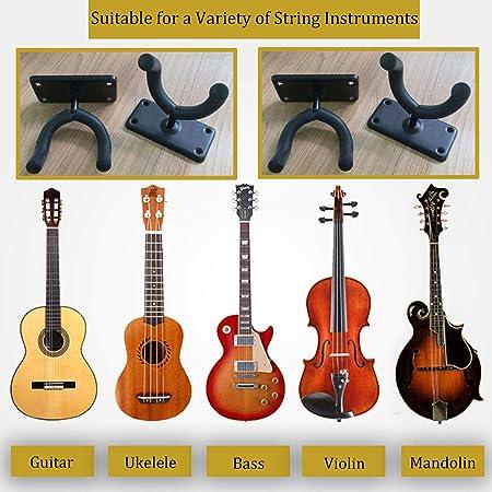 Kalaok Wall Mount Guitar Hanger Hook Holder Keeper for Electric Acoustic Guitars Bass Ukulele String Instrument