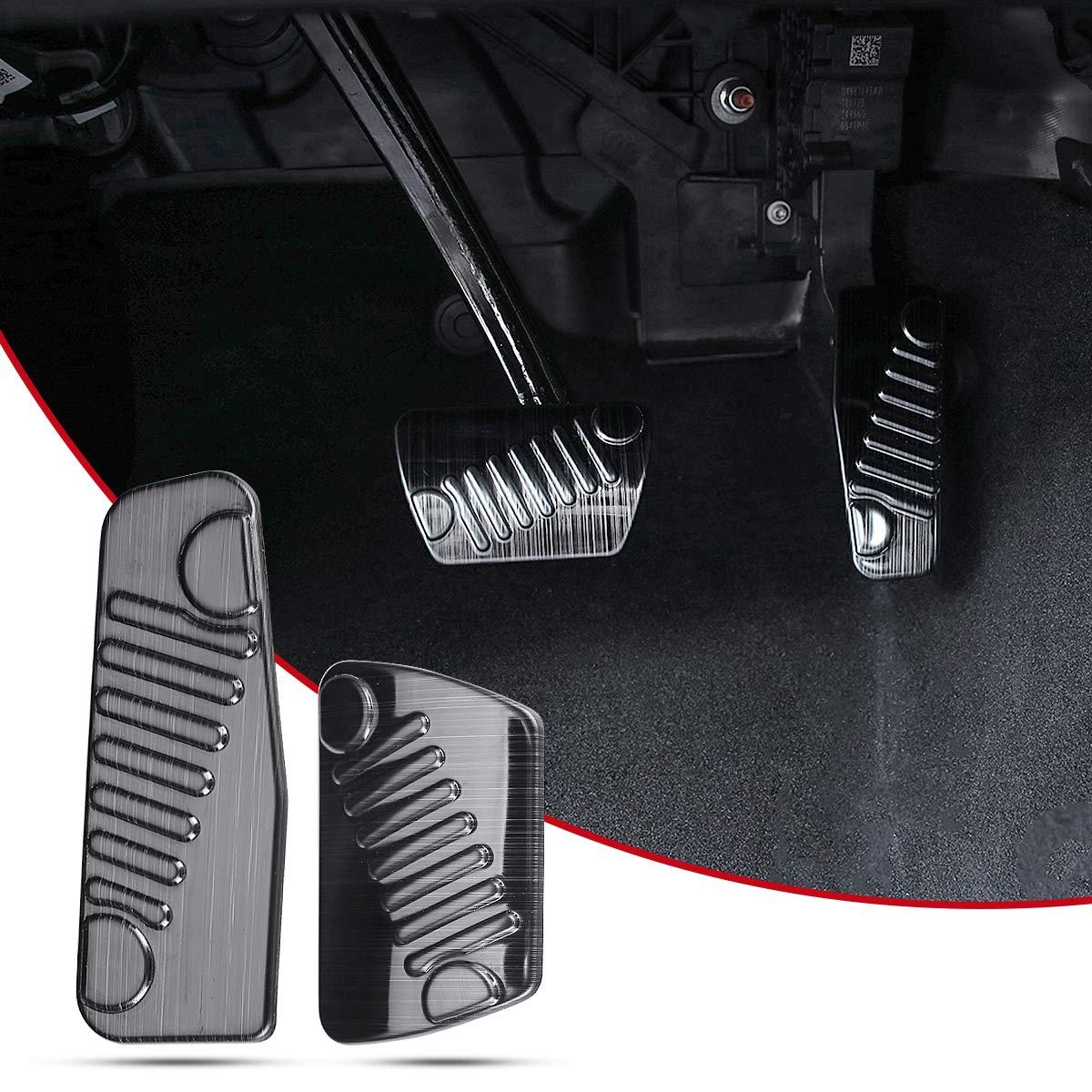 ZGBADMAN Stainless Steel Foot Pedal Set kit 2pcs//Set Black Auto Foot Pedal Pads Pedal Accelerator Brake Pad Trim Cover for Jeep Wrangler JL 2018