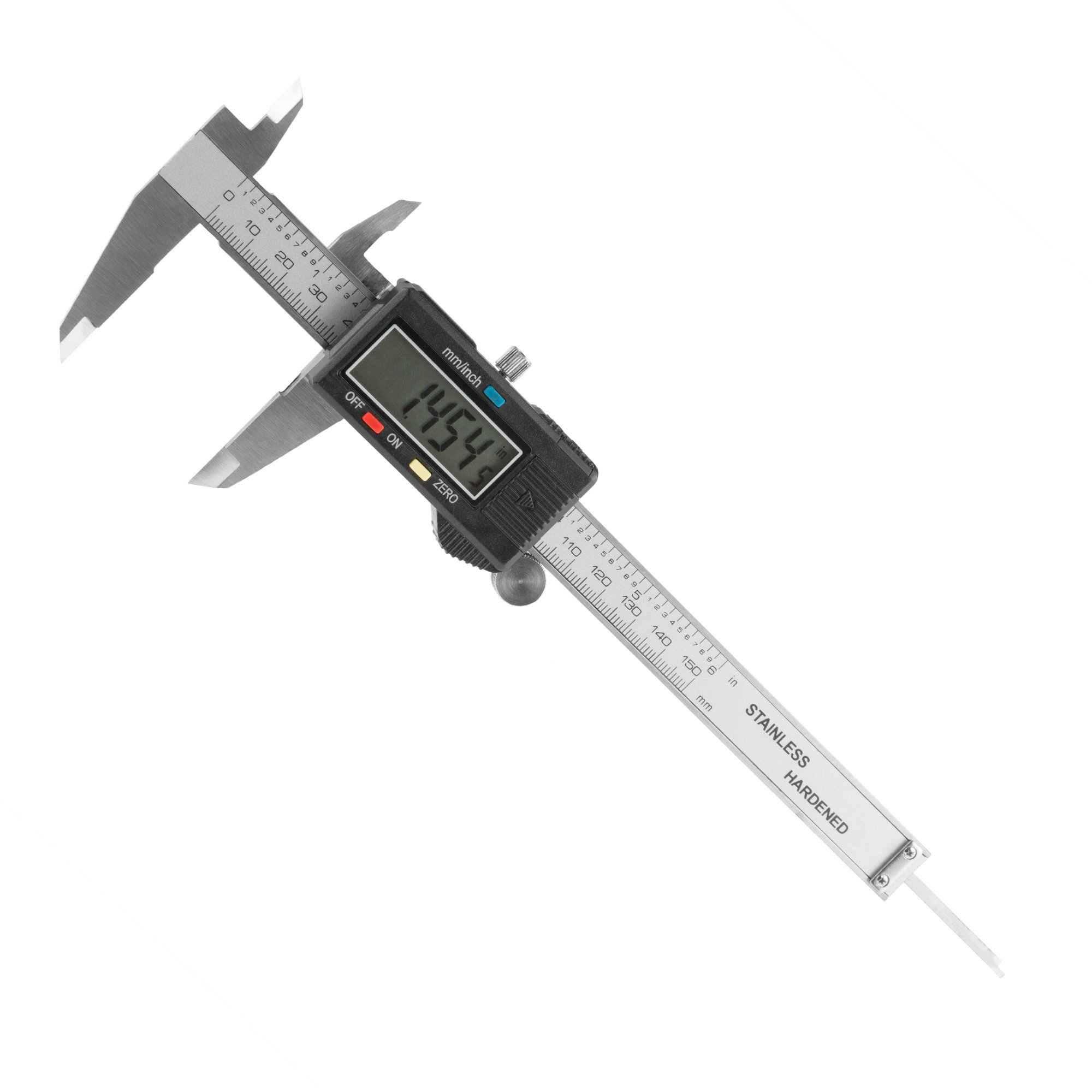 Electronic Digital Caliper, Stainless Steel with Extra Large LCD Screen and Inch/Metric Conversion- Measures Up to 6 Inch (0-150mm) by Stalwart