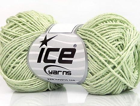 Lote de 8 madejas de algodón natural fino (100% algodón), color ...