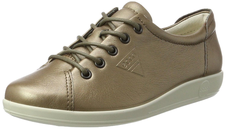 Ecco Soft 2.0, Zapatos de Cordones Derby para Mujer 39 EU|Gris (Warm Grey)