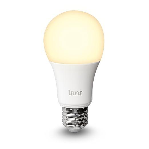 Innr E27 Bombilla LED conectada, luz blanca cálida, controlable vía smartphone, Hue*