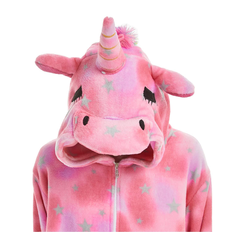 Dona Animal Cosplay Costume Unicorn Unisex Adult Pajamas