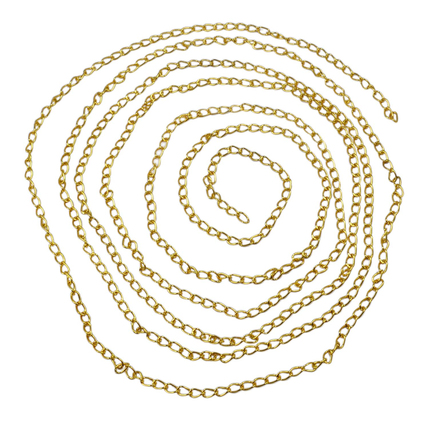 228.8 Centimeter Silvestoo Jaipur Yellow Color Gold Plated Chain Size Length