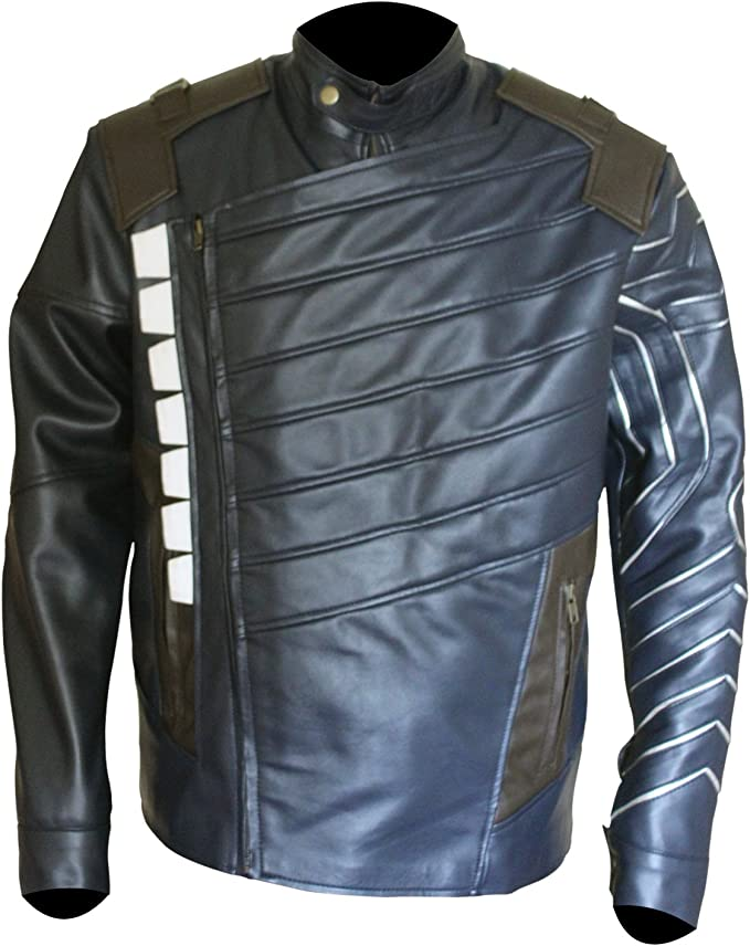 Bestzo Mens Fashion Arrow Arsenal Jacket Leather Burgundy