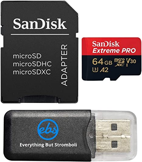 Sandisk 64GB 4326596692 Extreme Pro 4K Memory Card works with DJI Mavic Pro, Spark, Phantom 4, Phantom 3 Quadcopter 4K UHD Camera Drone - UHS-1 V30 ...
