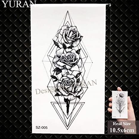 GHHCG Luna Negro Camping Pegatinas Tatuaje Mujeres Geométrica ...