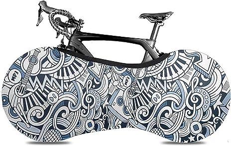 Funda para Bicicleta,Música Doodle Art Cubierta De Bicicleta Elegante Cubierta De Rueda De Bicicleta para Bicicleta Bicicleta Bicicleta De Carretera: Amazon.es: Deportes y aire libre