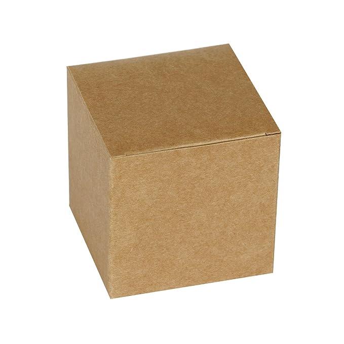 RUSPEPA 20Pack 8 X 8 X 8Cm Caja De Regalo Reciclada De Cartón Cuadrado, Cajas De Regalo Pequeñas Con Tapa Para Fiesta Y Manualidades (Kraft): Amazon.es: ...