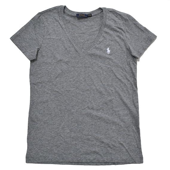 7f541ad5fe3 Ralph Lauren - T-Shirt - manches courtes - Femme gris Medium  Amazon.fr  Vêtements  et accessoires