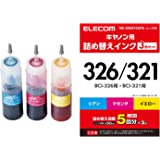 エレコム 詰め替えインク キャノン BCI-321 BCI-326対応 3色セット 5回分 THC-326321CSET5