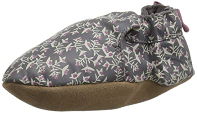 85015c267e7 Robeez Girls  Soft Soles with Bow Back Crib Shoe Berry Beautiful Grey 0-6