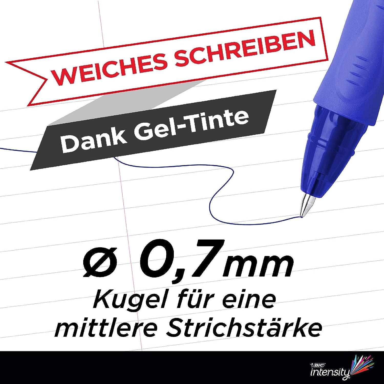 BIC Intensity Illusion con inchiostro cancellabile confezione da 3 Penna a gel ricaricabile