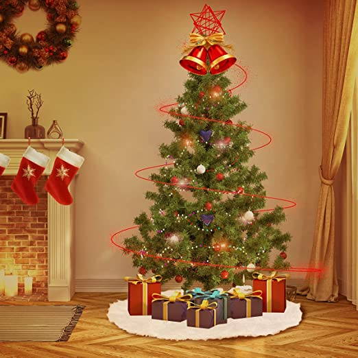 Surenhap Falda del Árbol Navidad Decoración de la Falda del árbol ...