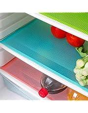 BByu 4 tapis de réfrigérateur, anti-bactériens, anti-moisissures