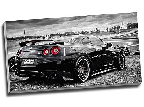 Framed Bugatti La Voiture Noire Evolution 5 Piece Canvas Print Wall Art Decor