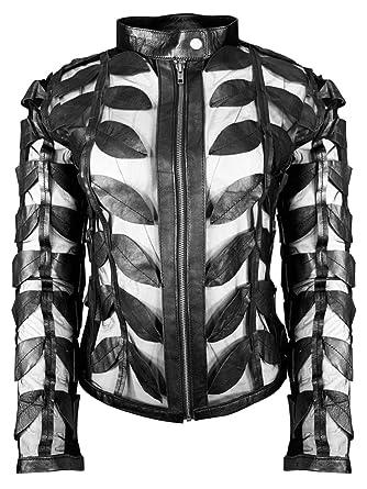 Amazon.com: Alen Cooper Funky - Chaqueta de piel con diseño ...