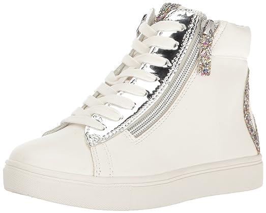 Steve Madden Girls' Jpeace Sneaker, White, 2 M US Little Kid