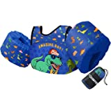 Chriffer Kids Swim Vest for 30-50 Pounds Boys and Girls, Toddler Floats with Shoulder Harness Arm Wings for 2,3,4,5,6,7 Years