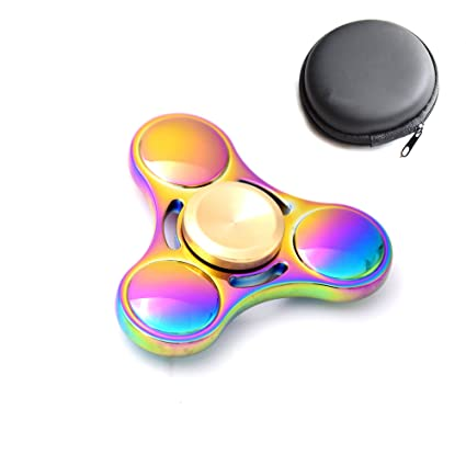 Juslink Metal Fidget Spinner RainbowGuranteed 4 To 8 Minutes Spin Time Hand