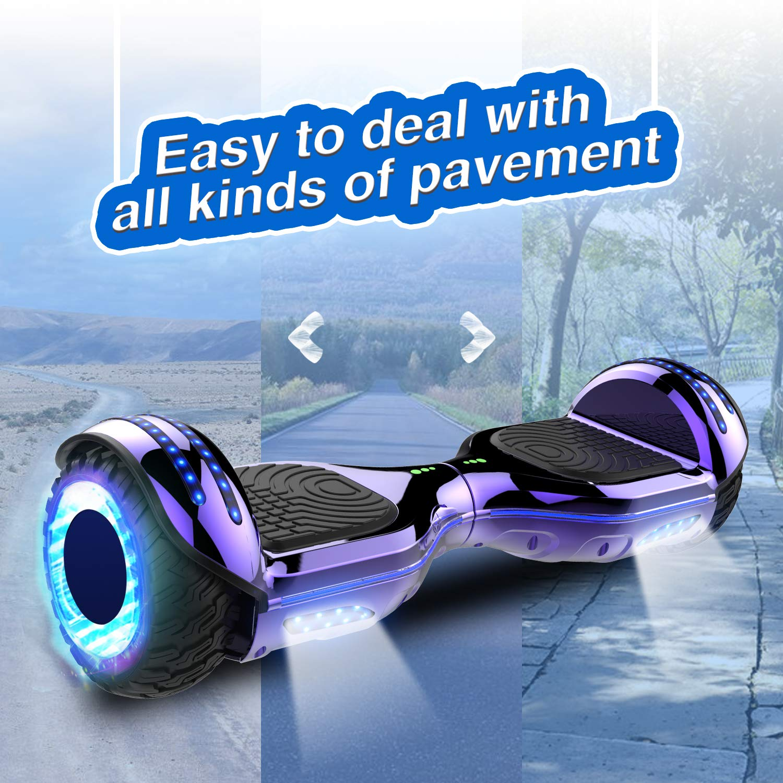 RCB 6,5 Zoll Self Balance Scooter Selbstbalance Elektroroller mit blinkenden R/ädern Bluetooth Skateboard f/ür Jugendliche und Kinder