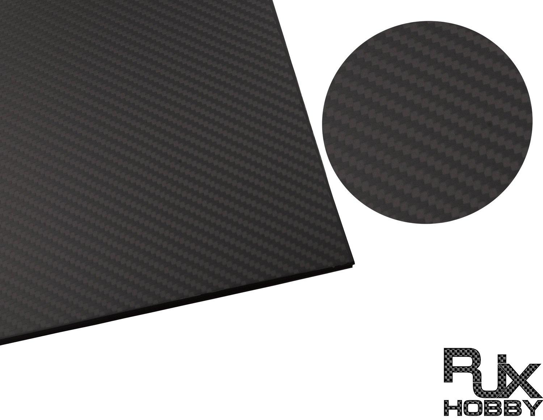 Rjxhobby 700MMX700MMX1.0-10ミリメートル3 k 100%フルカーボン繊維板シートパネル(板目、マット表面) (3mm) B07CVDG4FK  6mm 6mm