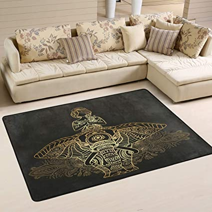 Amazon.com: Wamika - Felpudo, diseño de elefante de yoga con ...